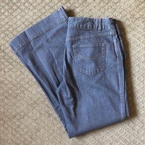 J. Jill Flare Leg Grey Jeans - 12P - NWT!
